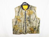Bob Allen XL Realtree Hardwoods Camo Hunting Vest Reversible Orange Jacket NAHC