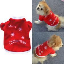 Animal Vêtements Pull Chaud Hiver Noël Flocon Neige Brodé Pour Chien Chiot Décor