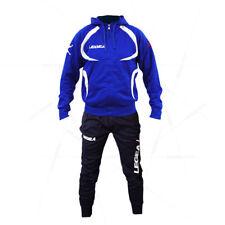 Legea Giacca Tunisia con cappuccio Zip Intera Allenamento Training Line Azzurro-bianco XL