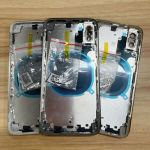 For iPhone X XS MAX Housing Metal Frame Glass Back Chassis Cover Replacement