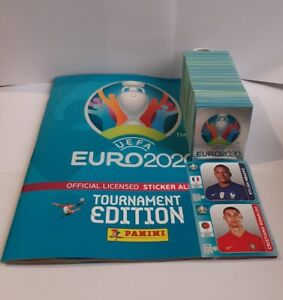 UEFA EURO 2020 TOURNAMENT EDITION Compete set 654 + empty album, Blue editiona