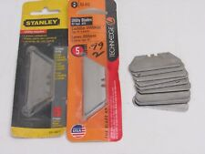 NOS! LOT OF TECHNI EDGE #03-013 & 03-017, STANLEY #11-921, UTILITY KNIFE BLADES