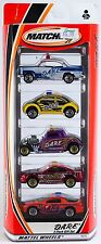 Matchbox D.A.R.E. DARE 5 Pack 2001 NEW Volkswagen Camaro Bel Air Ford Mustang