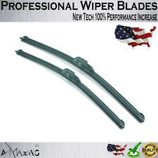 "24"" and 17"" Windshield Wiper Blades Premium OEMQuality J-Hook Blades Bracketless"