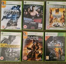 Xbox 360 Action Krieg Kämpfe x 6 Spielepaket