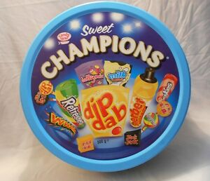 Collector Tin - Candy Land Sweet Champions Lollies - Round - 23 x 7cm - Empty