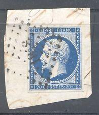 FRANCE 14Aa PC 1818 LYON,RHÔNE.VARIETE: fond ligné: cote: 50€ Presque bleu noir.