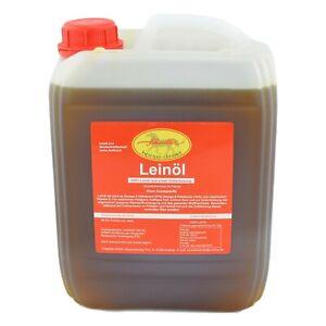 Leinöl 10 Liter - garantierte erste Kaltpressung - Top frische Ware