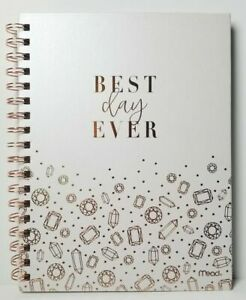 Mead BEST DAY EVER Wedding Bridal Journal, Planner, Checklist, Notebook