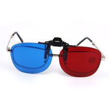 Clip On Red/Blue 3D Myopia Glasses Clip for 3D Viewing Home Movies