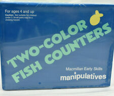 NEW Macmillan Early Skills Two-Color Fish Counters Manipulatives Home School