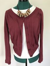 Metalicus red wine burgundy cardigan jacket one size