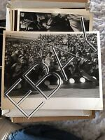 Elvis Historic Original PRESS PHOTO 1956 Tupelo concert~Screaming Fans At Stage