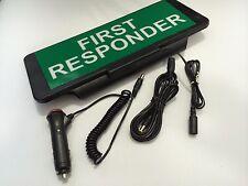 LED Univisor FIRST RESPONDER Sign visor illuminated flashing