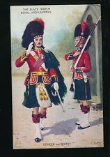 Military BLACK WATCH ROYAL HIGHLANDERS c1930/40s? PPC by Valentine