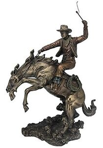 """13.5"""" Cowboy Classic Rodeo Statue Western Figurine Country Figure American"""