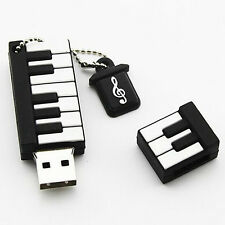 64GB Cartoon Piano USB 2.0 Flash Drive Memory Stick Thumb Key Chain U Disk Gift*
