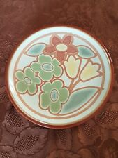 More details for denby - modern - retro style - flower salad / dessert plate  - v.g.c free uk p&p