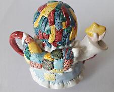 Beautiful Patch Angel Teapot Ceramic Colorful 1996 Unique Vintage Collectible