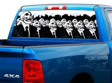 P490 Skulls Skull Rear Window Tint Graphic Decal Wrap Back Truck Tailgate