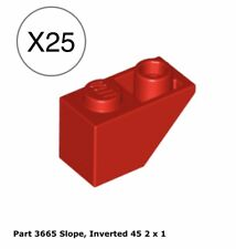 Lego 4x Slope curved pente courbe inverted 4x1 rouge//red 13547 NEUF