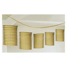Laternengirlande 3,6 m Laternen gold Goldene Hochzeit Raum Deko Dekoration Party