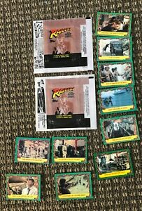 1981 TOPPS RAIDERS OF THE LOST ARK 10 CARDS PLUS 2 ORIGINAL WRAPPERS !!!!!!!!!!!