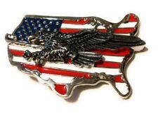 ✖ WESTERN STEER EAGLE American Flag Cowboy Rodeo Style ✖ Belt Buckle Buck ✖  USA