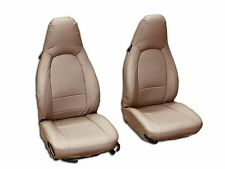 PORSCHE 911 928 944 968 BEIGE S.LEATHER CUSTOM MADE FIT FRONT SEAT COVER