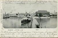 1985: Postkarte Ansichtskarte Konstanz Hafen 1903 Ludwigsburg Dampfschiff