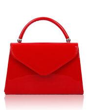 Women's Shiny Patent Lady Clutch Bag Evening Party Bridal Prom Hardcase Handbag