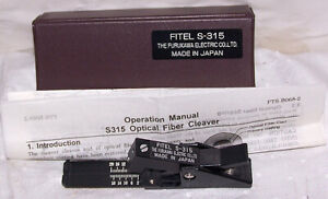 FURUKAWA FITEL S-315 OPTICAL FIBER CLEAVER W / ORIG BOX & INSTRUCTIONS