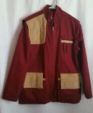 10X Hunting Skeet Shooting Burgendy Suede Gore-Tex Jacket Coat Men's Size M/L?