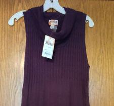 MUDD Sweater Dress Full Length Plum Purple Cowl Neck Knit Juinors XL NEW $60