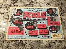 Soul Spectacular GREATEST HITS 2002 Rhino PROMO Poster RAY CHARLES Temptations