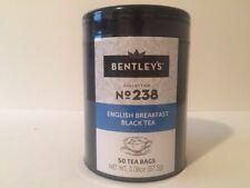 Bentley's English Breakfast Black Tea 50 Tea Bags Harmony Tin Collection (3 pack