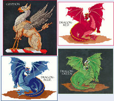 GRYPHON & DRAGON COUNTED CROSS STICH PATTERNS