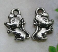 20Pcs tibetan silver mouse charms pendants 12X7MM JK0913
