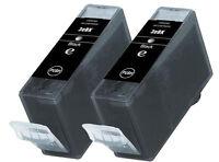 2 Canon BCI3BK Negro Cartuchos de tinta para Pixma , BJC , SERIE S Impresoras