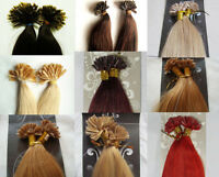 "More Colors AAA+18"" Remy Human Hair Nail U Tip In Extensions 100s 100gr"