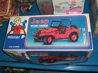 VINTAGE 80'S MISTER P GREEK JEEP SAFARI SPORT R/C BATTERY OPERATED TOY MIB WORKS