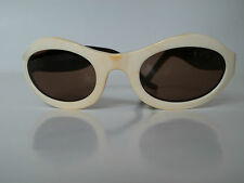 EMMANUELLE KHANH PARIS cream frame sunglasses France 4242 rare vintage 90's