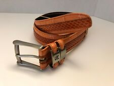 Stacy Adams Orange Genuine Imported Leather Men's Belt size 34