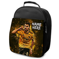 NEVES Lunch Bag Wolves School Insulated Boys Football Personalised NL10