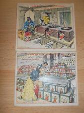 LOT DE 2 CARTES ANCIENNES CHINE CHINESE VOIR PHOTO CHROMOS ( ref 43 )
