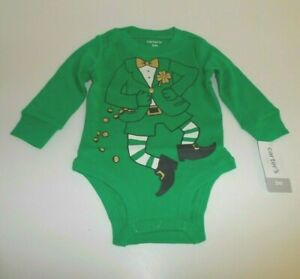 NEW Carter's ST. PATRICK'S DAY LEPRECHAUN 1-PIECE OUTFIT 3 Mo. Halloween Costume