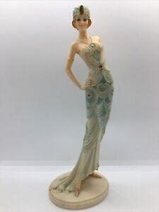 Broadway Belles Style 1920s Fashion Blue Dress Lady Figurine Ornament