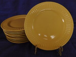 JCPenney Italiana Dark Yellow DINNER PLATE 1 of 10 available, have more items