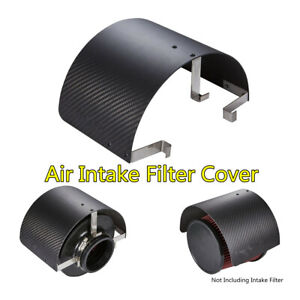 """Car Stainless Steel Air Intake Filter Cover Heat Shield For 2.5""""-5.5"""" Filter 1PC"""