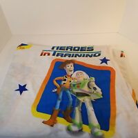 Disney Pixar Toy Story Heroes in Training Twin Flat Sheet Craft Fabric Buzz